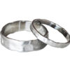 Organic wedding bands set in white gold, made by hand in Toronto