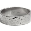 White gold textured wedding band for men, made in Canada