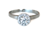 Canadian Diamond Halo Ring