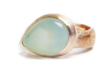 Chalcedony Pear Ring