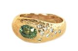 Custom Green Sapphire Ring