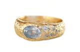 Custom Moonlight Sapphire Ring