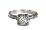 Earthy Cushion Solitaire Ring