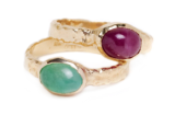 Emerald and Ruby Rings