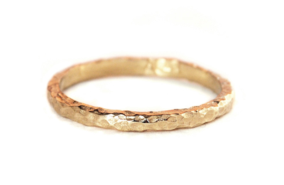 textured gold wedding band
