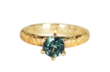 Green Sapphire Prongs Solitaire