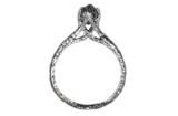 Medieval Octahedron Ring