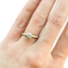 pebble solitaire alternative diamond ring