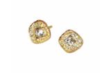 Rough Diamond Halo Earrings