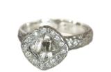 Rough Diamond Octahedron Halo Ring