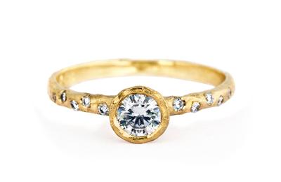 Unique diamond ring, natural design