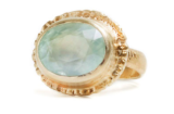 Sun & Water Aquamarine Ring