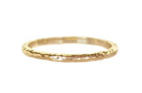 delicate thin gold wedding band