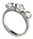 Three Rough Diamonds Ring