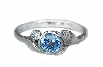 Sapphire Engagement Ring made in Canada