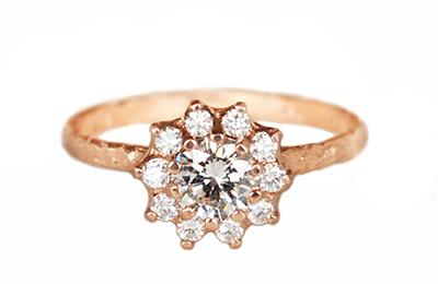 vintage rosetta diamond engagement ring