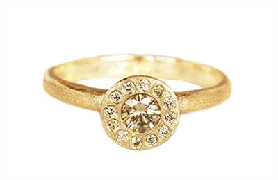 champagne diamond unique engagement ring Toronto