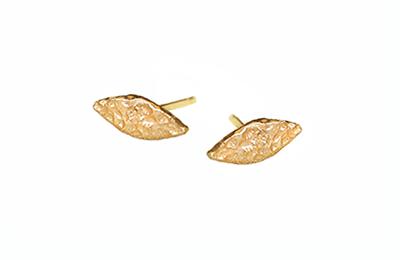 Organic leaf stud earrings