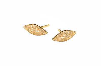 Organic leaf stud earrings