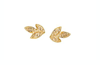 Organic earrings, made in Toronto