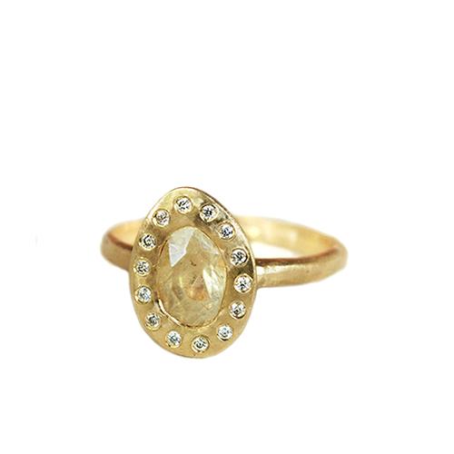 Organic sapphire engagement ring, Toronto Canada