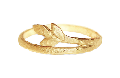 Leafs Wedding Band Design by Anouk Jewelry