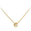 Yellow recycled gold delicate diamond necklace made in Toronto Canada