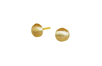 Recycled gold earrings made in Toronto Canada