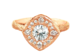 Rose gold, Canadian diamond, engagement ring