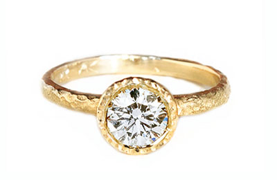 man-made diamond, sustainable engagement ring