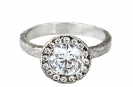Diamond Halo Engagement Ring by Anouk Jewelry