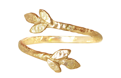Gold leaf ring, Anouk Jewelry