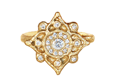 unique ornate engagement ring by Anouk Jewelry