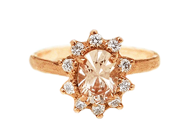 Boho engagement ring made in Toronto, Canada