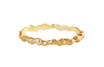 organic wedding band made in recycled gold