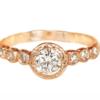 organic engagement ring rose gold