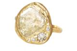 Unique diamond slice ring
