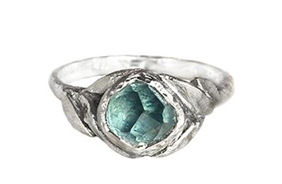 Custom Montana sapphire ring