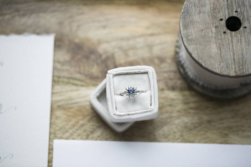 unique blue sapphire engagement ring