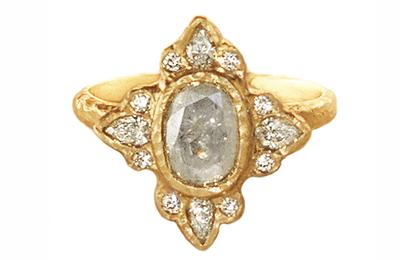 unique raw diamond engagement ring