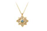 unique gold sapphire and diamonds pendant