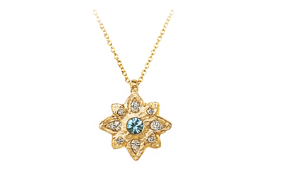 unique gold sapphire and diamonds pendant