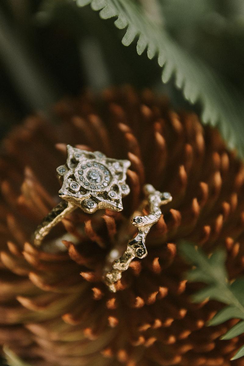 Alternative Engagement Ring and Wedding Band