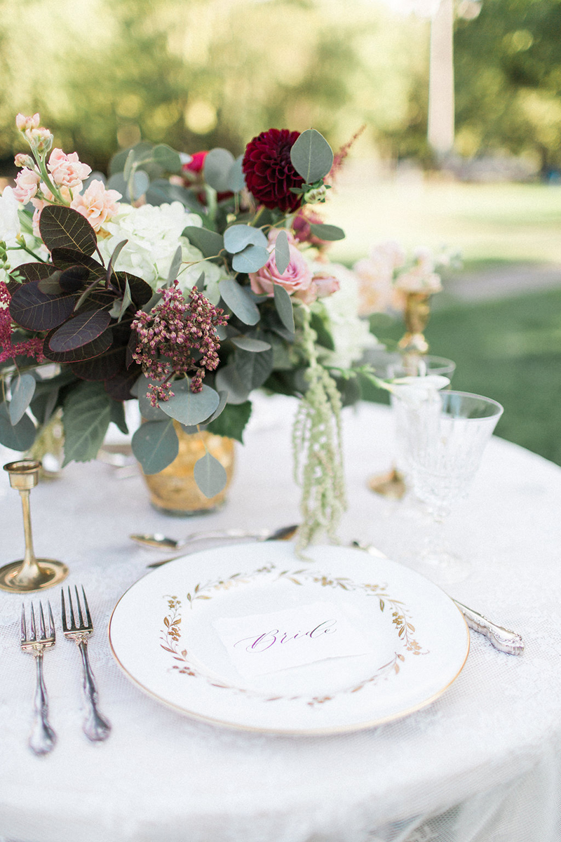 Wedding inspiration table setting