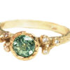 Green sapphire alternative engagement ring