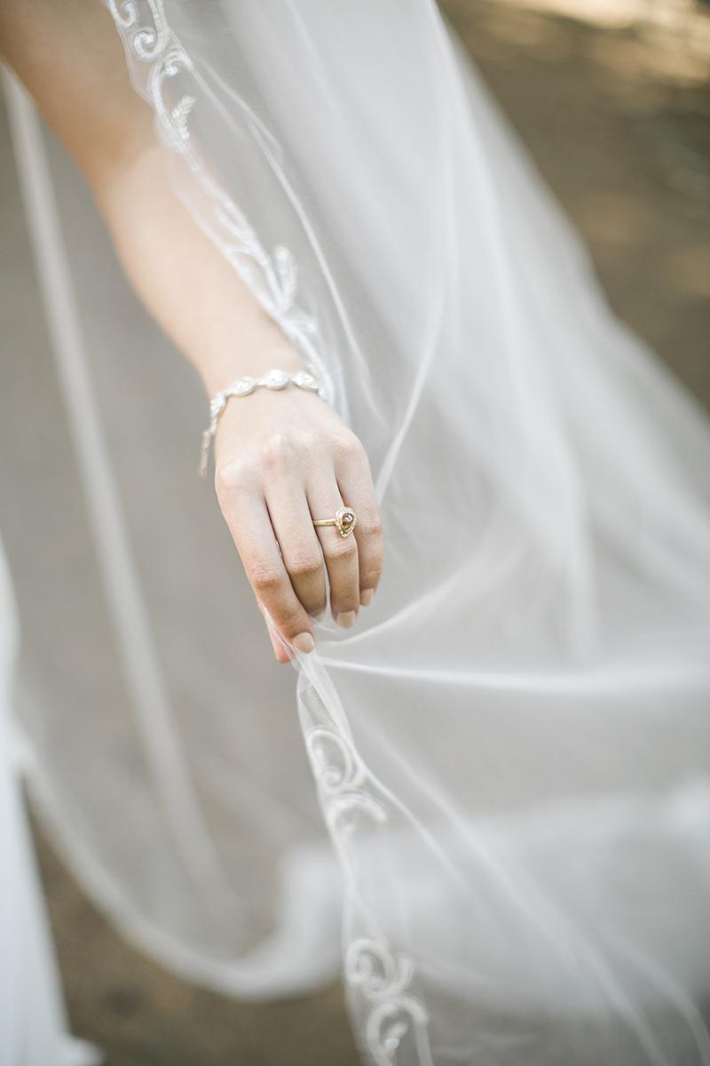 raw diamond halo ring