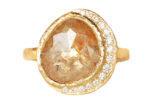yellow diamond with accent diamonds custom ring