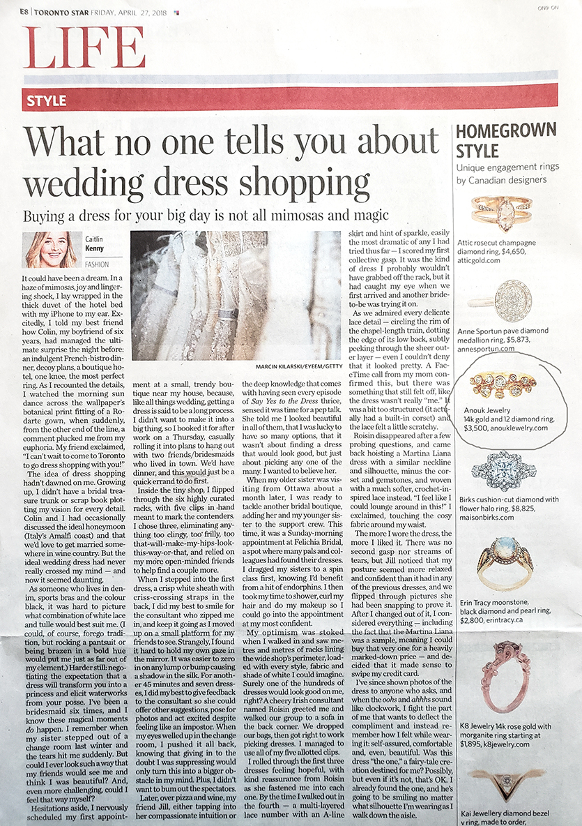 Toronto Star, Style Section, Anouk Jewelry