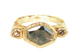 unique grey diamond ring