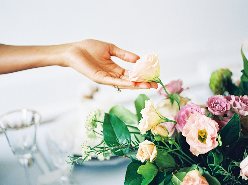 bride and flowers style inspiration